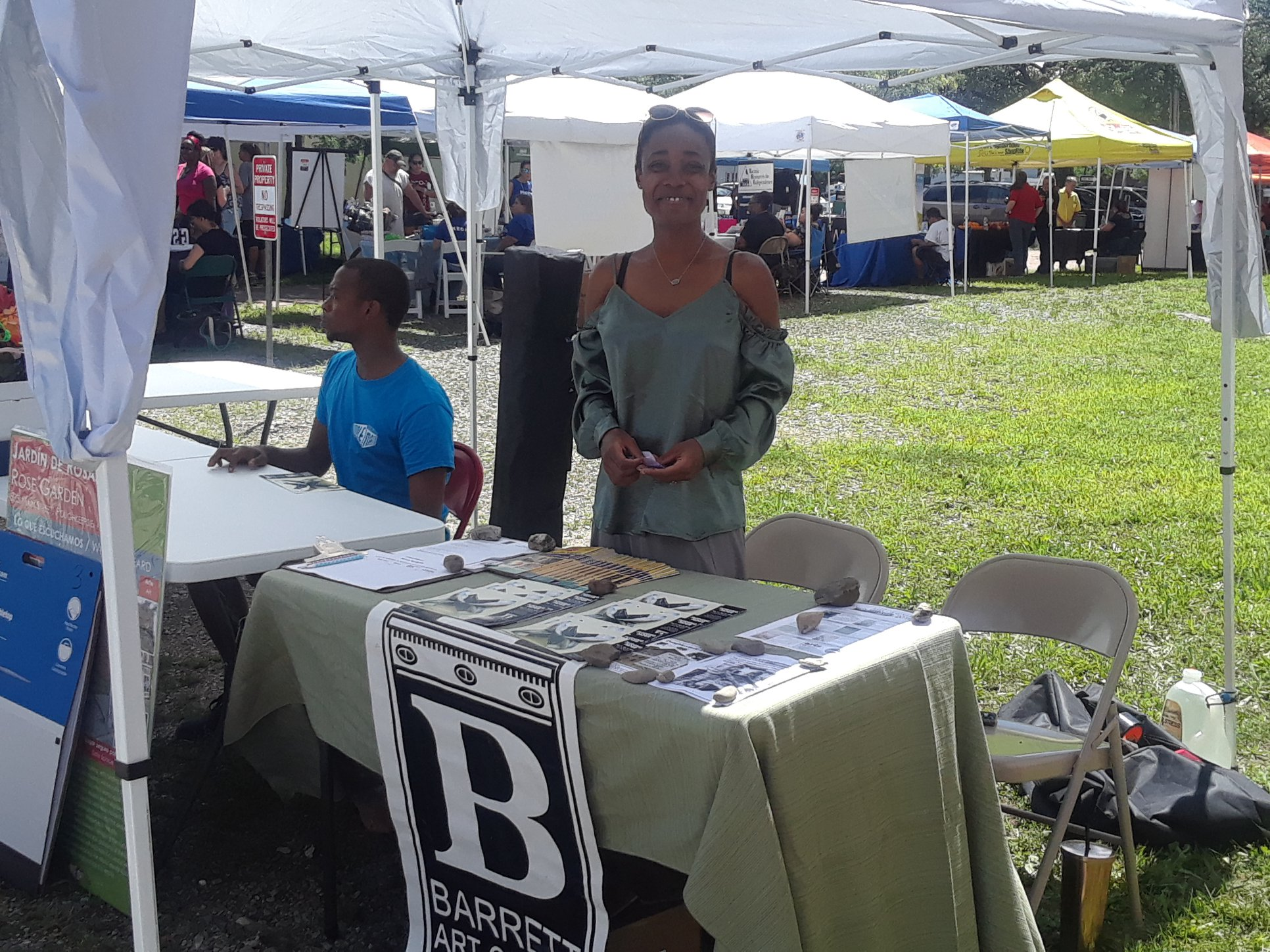 Summer 2018 Intern, Sekaya, connecting with the community at the O+ Festival.