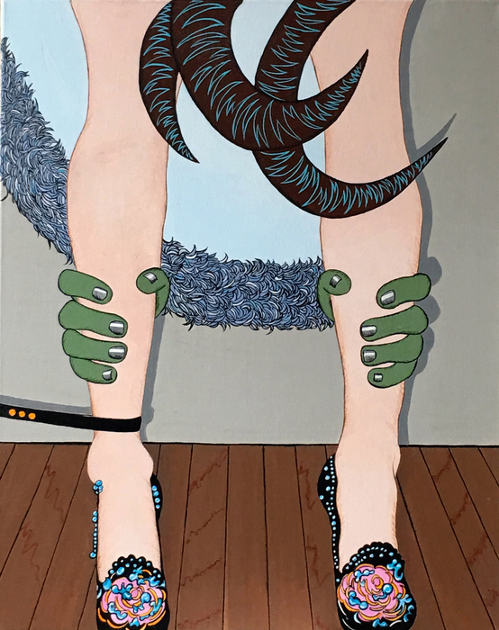 "Deborah Druick -   Restraints -   Acrylic on Canvas (24"" x 30"")  $3000"