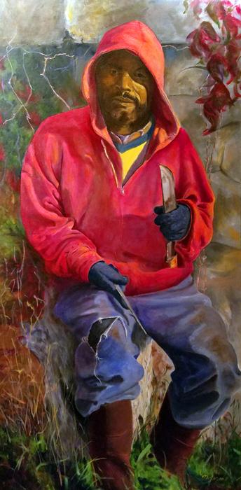 "Barbara Masterson -   Renaissance -   Oil on Canvas (48"" x 24"")  $28   00"