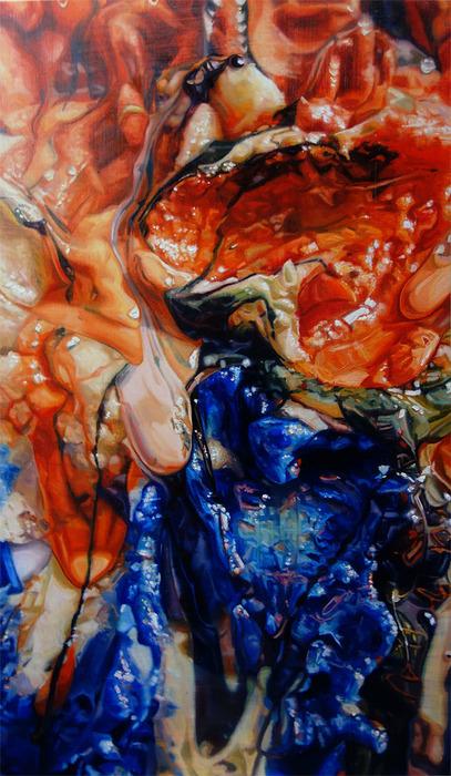 """Lisa McCleary -   Aithrí/Penance     -   Oil on Aluminum (22"""" x 13"""")  $2450"""