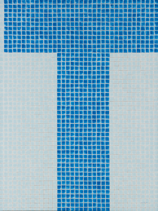 "Cynthia Cooper -   untitled pool (short palindromic repeat)     -   Acrylic on Canvas (36"" x 48"")  $1850"