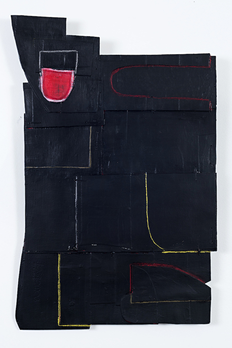 "Julie Henry -   Special Construction no. 4     -   Mixed Media on Cardboard (20"" x 13"" )  $850"