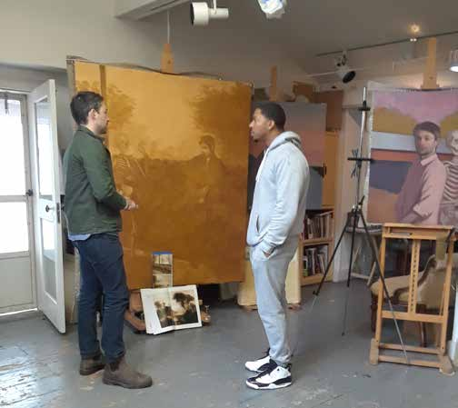 BAiR Benjamin Arnold leads Barrett Kids and regularly hosts open studio hours for community members to drop in and learn about his practice,.