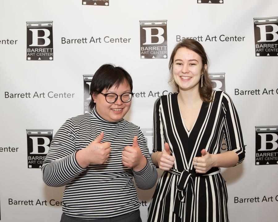 Spring 2019 Interns Rui Cheng & Karin Halversen on the red carpet at Barrett's Springraiser event!
