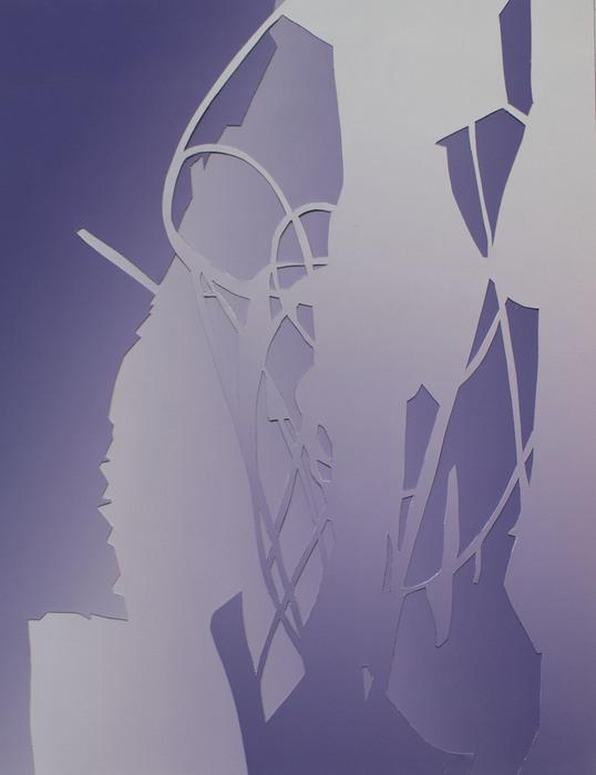 """Gina Occhiogrosso -   Dissolve   - Collage (11"""" x 8.5"""")  $300"""