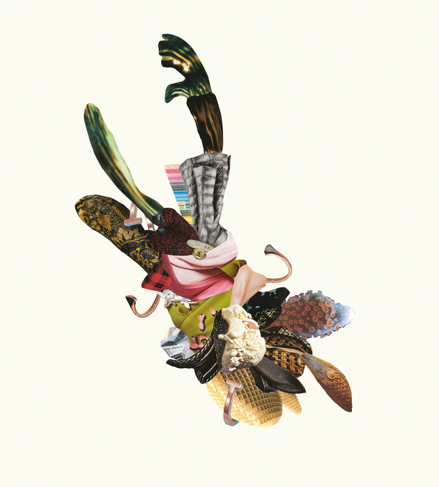 "Angela Piehl -   Lure   - Digital Print from Collage (26"" x 20"")  $600"
