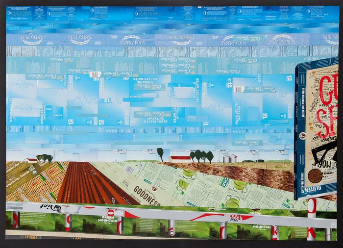 """Annie H. Weidman -   Gun Show   - Preprinted Paperboard Boxes (39"""" x 53"""")  $2300"""