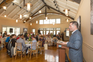 Dutchess County Executive Marcus Molinaro speaking at Barrett's 2019 Springraiser
