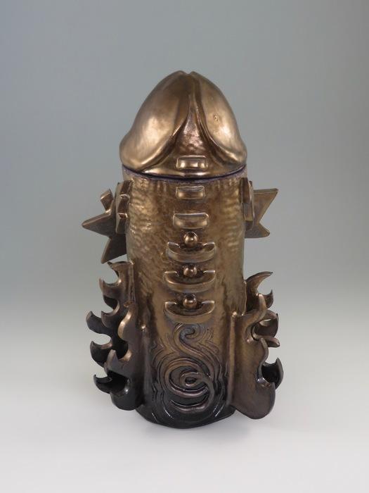 "Kevin Eaton   Cookie Jar No. 1   Ceramic (15"" x 9"" x 7"")  $1500"