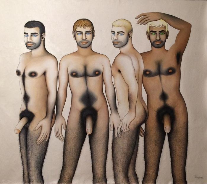 """Alfredo Levanti   Gay   Oil on Canvas (66"""" x 58"""")  $15000"""