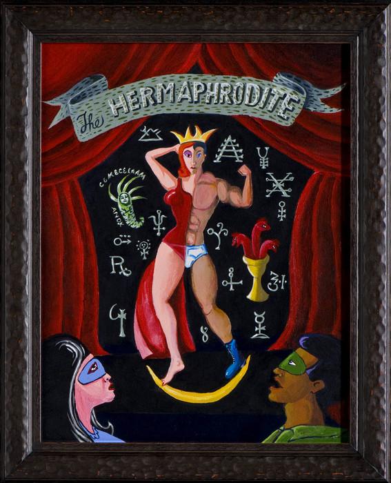 "C. B. Murphy   Hermaphrodite   acrylic (21"" x 17"")  $1000"