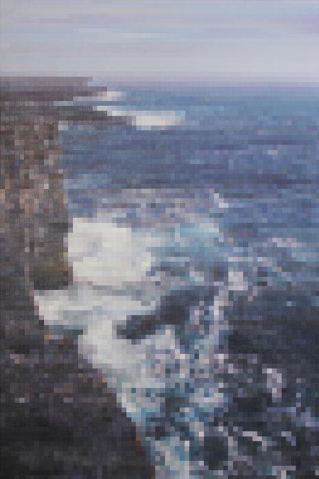 "Kenneth Batista - Aran Island Coast - Acrylic on canvas (49.5"" x 33"") $4000"