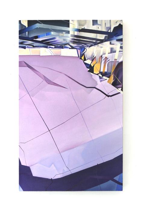 "Natalie Birinyi-   Trump Tower (Skyscraper in New York City, New York) I   Oil on canvas (30"" x 18"" x 1.5"")  $3000"