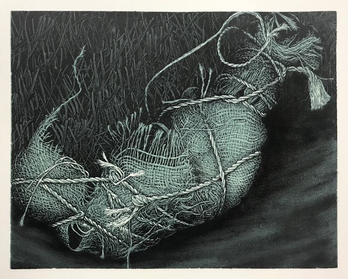 "Kyle Chaput -   Bundle IV -   woodcut (11"" x 14"")  $800"