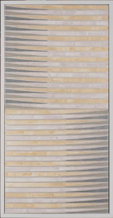 "Cynthia Cooper -   untitled (it corresponds) -   acrylic on canvas (42"" x 22"" x 2.5"")  $1650"