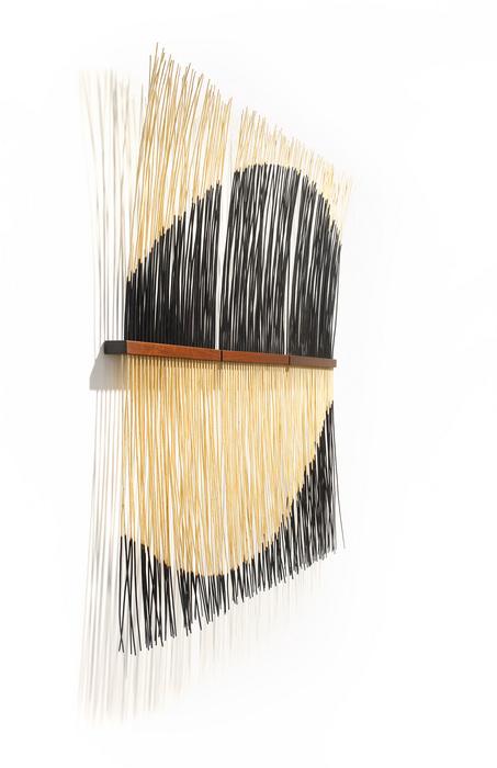 "Jacob Kulin -   Willow-II -   Burned & painted willow branches, Brazilian walnut (66"" x 66"" x 3"")  $11000"