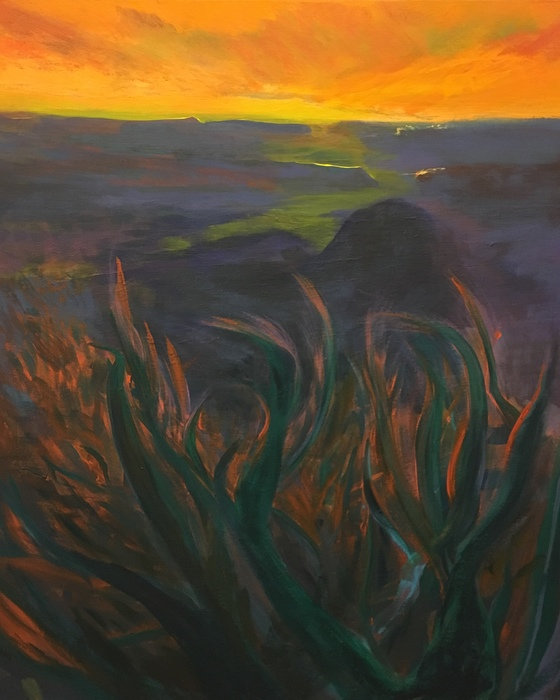 """Tim Lancaster -   the New Wind River -   Acrylic (42"""" x 38"""")  $12000"""