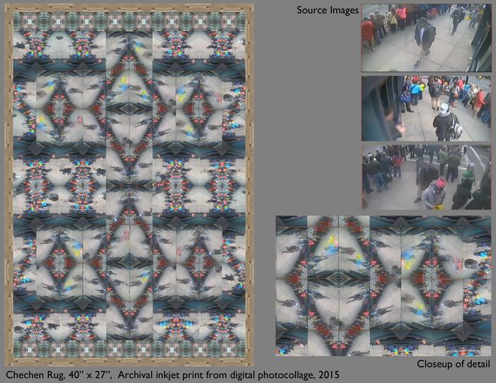 """Paul Lee -  Chechen Rug -   Archival inkjet print (40"""" x 27"""")  $880"""