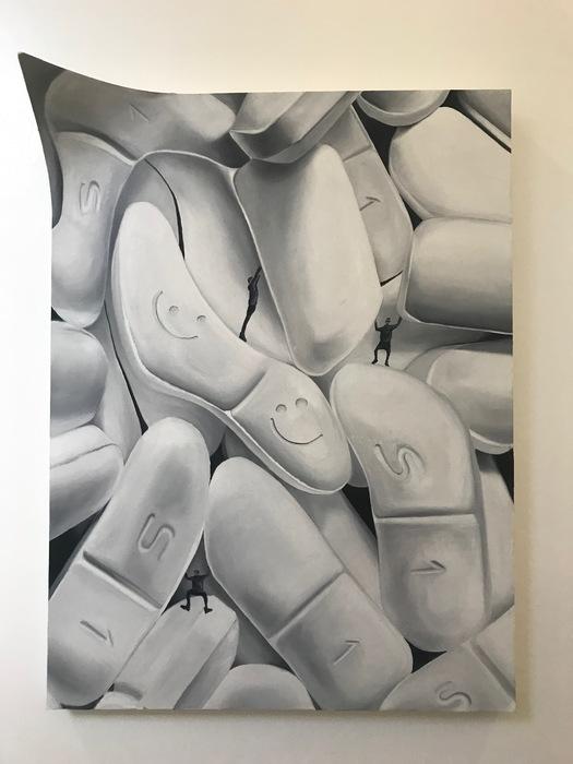"Marina Rahlin - Daily Dose - Oil on canvas on Wood Base(48"" x 36"") $5000"
