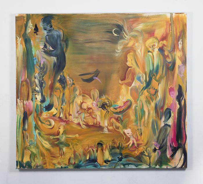 """Tseng Tsailing -   Helloween -   Oil on canvas (50"""" x 55"""")  $1500"""