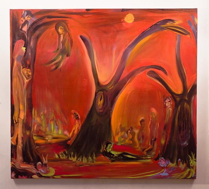 """Tseng Tsailing -   Neverland -   oil on canvas (50"""" x 55"""")  $2000"""