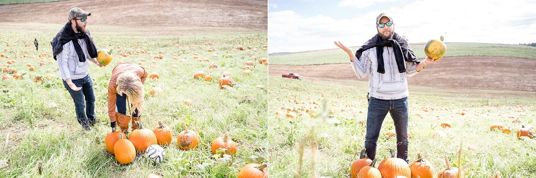 When Kim finds 7 perfect pumpkins…