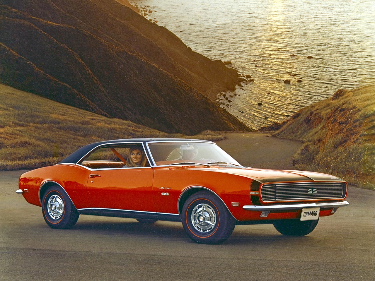 'Coke bottle hip' styling at it's finest - the first generation Camaro