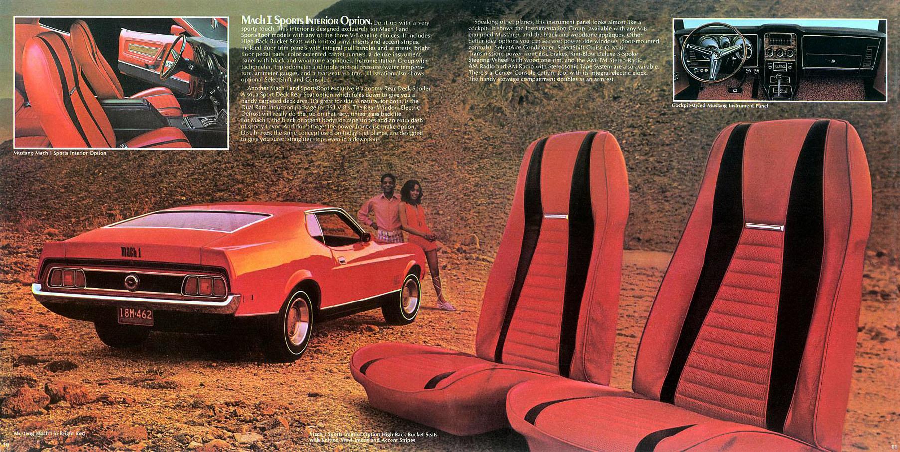 1972 Mustang Mach 1 - sports interior option