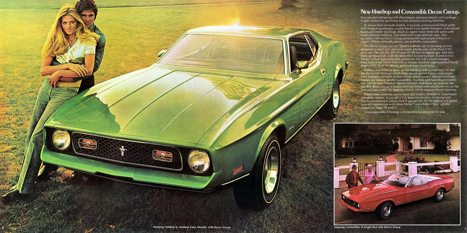 1971 Mustang hardtop and convertible