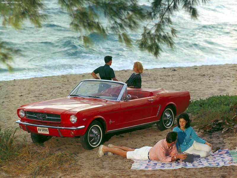 1965 Mustang convertible in idyllic setting