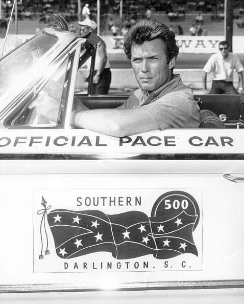 Clint Eastwood drives the Darlington pace car
