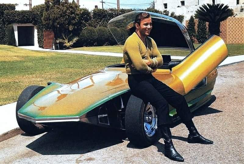 Captain James T Kirk aka William Shatner - posing with 'The Reactor' - a 1965 George Winfield creation