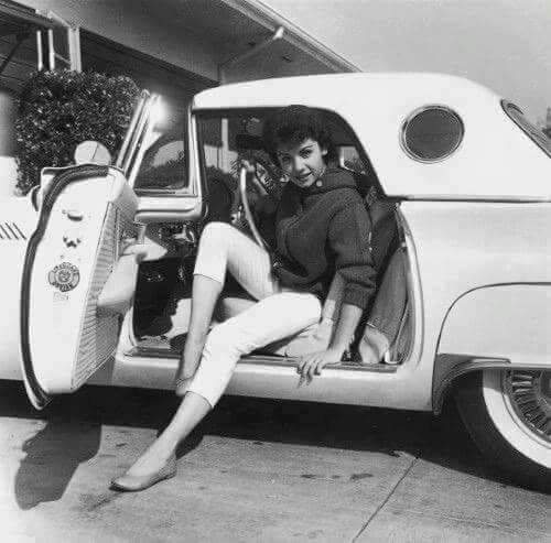 Annette Funicello and a '57 T-bird