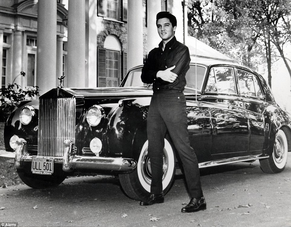 Elvis ads a Rolls to his collection of Cadillacs