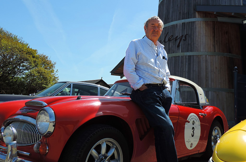 Pink Floyd's Nick Mason and his racing Austin Healey