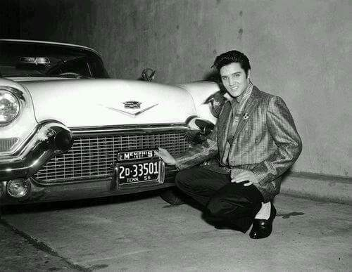Elvis with his new '57 Cadillac