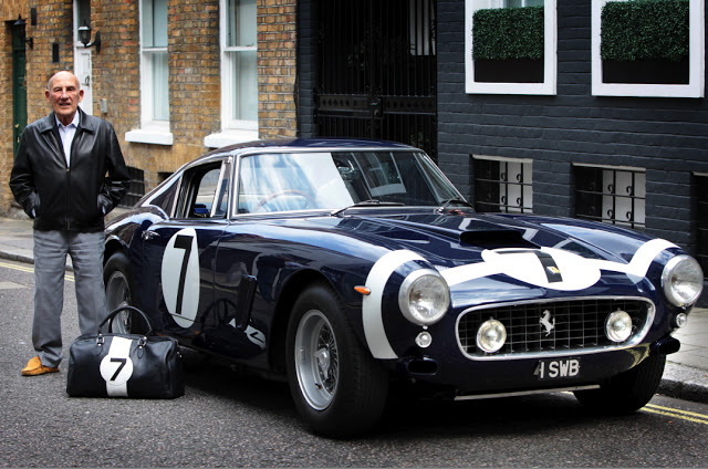 Stirling Moss with 1961 Ferrari 250 SWB
