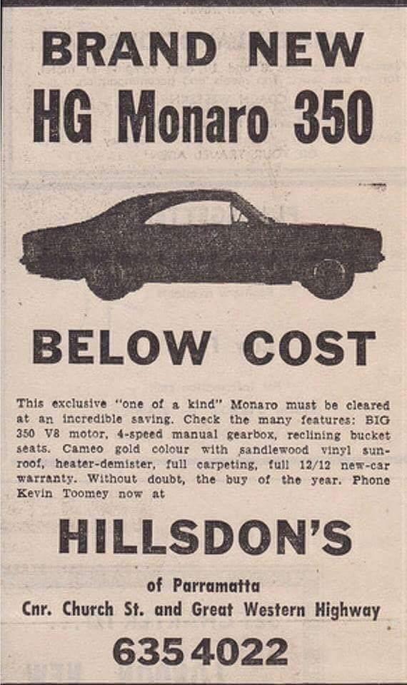 New HG 350 Monaro - below cost