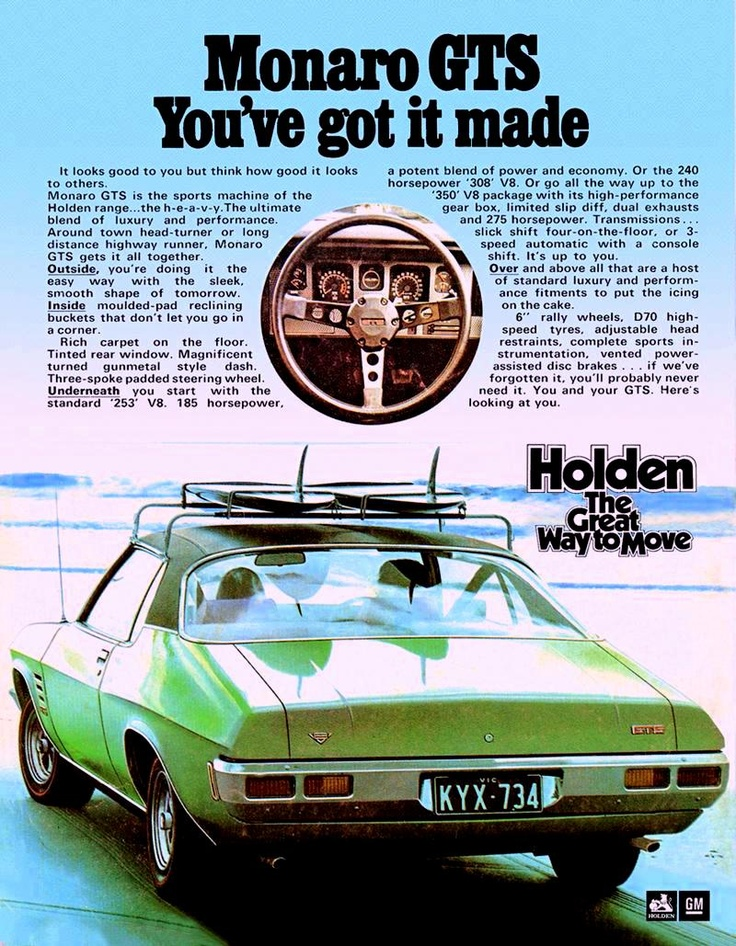 1972 HQ Monaro GTS - you've got it made...