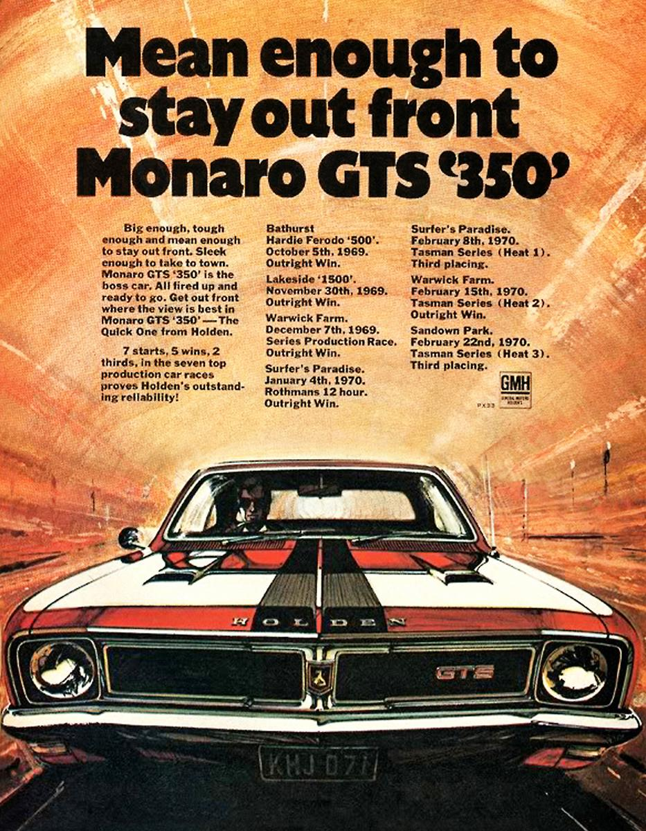 1969 HT Monaro GTS 350 - stay out in front