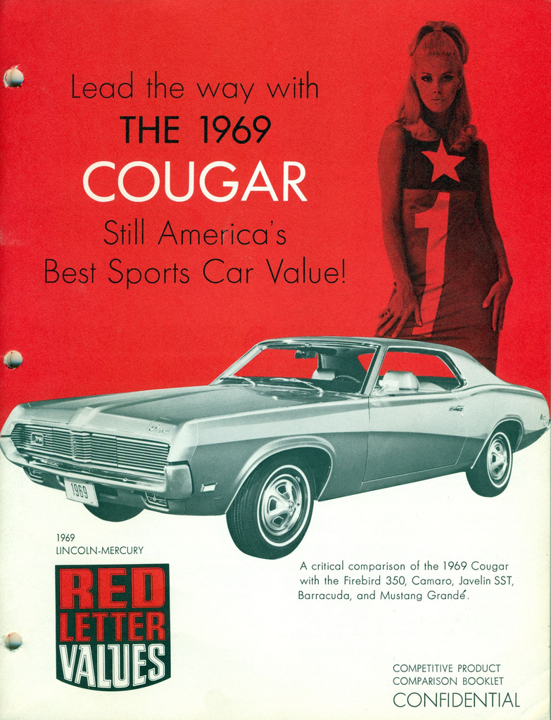 1969 Mercury Cougar - red letter value