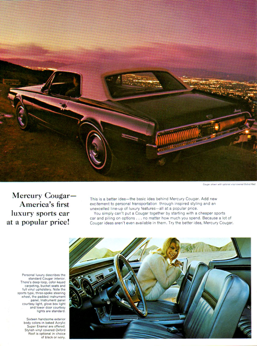 1967 Cougar - new excitement in personal transportation