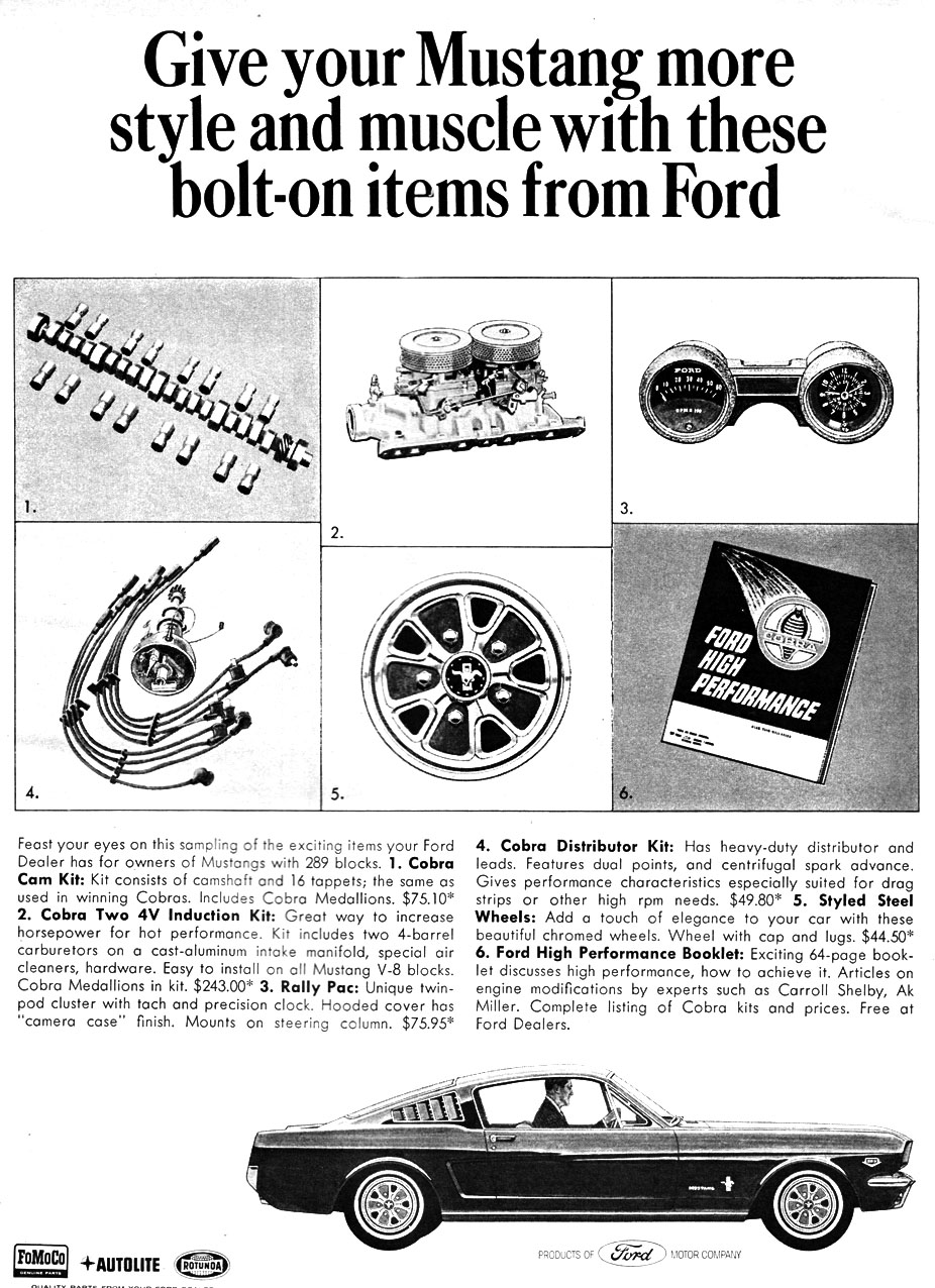 1966 - Give your Mustang more style and muscle
