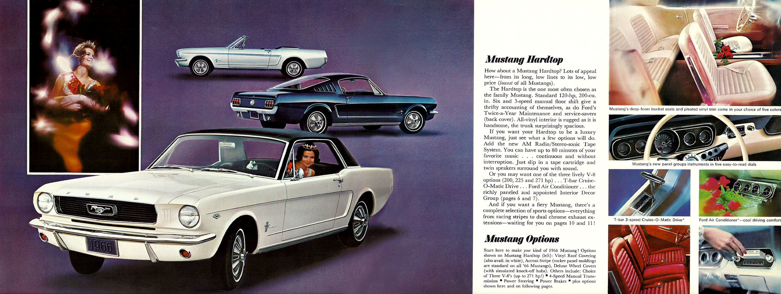1966 Mustang hardtop, soft top and fastback options