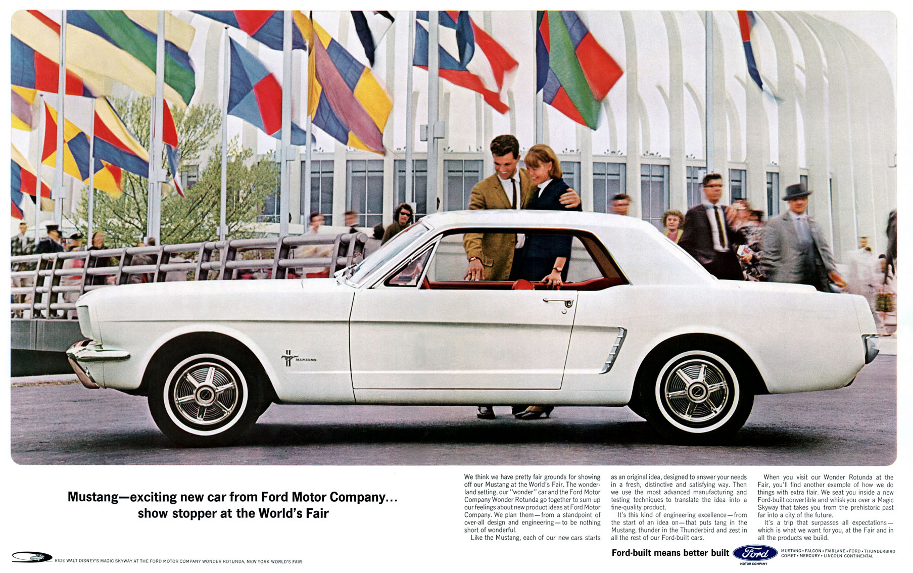 1964 Mustang - showstopper at the World's Fair