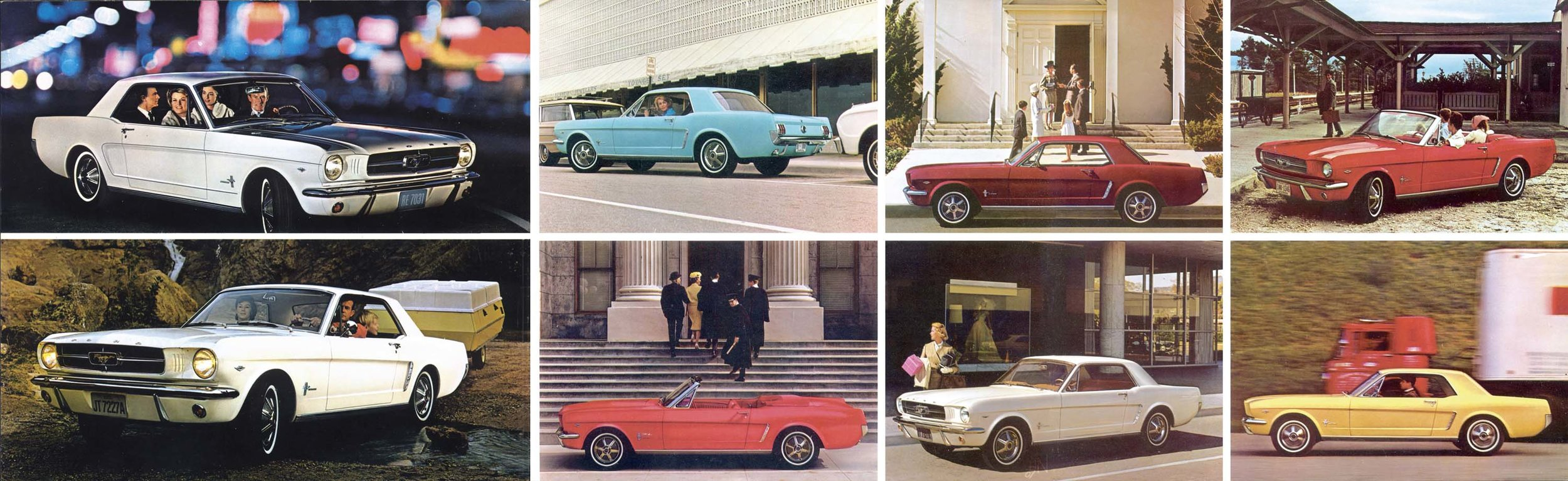 1964 Mustang range and colours
