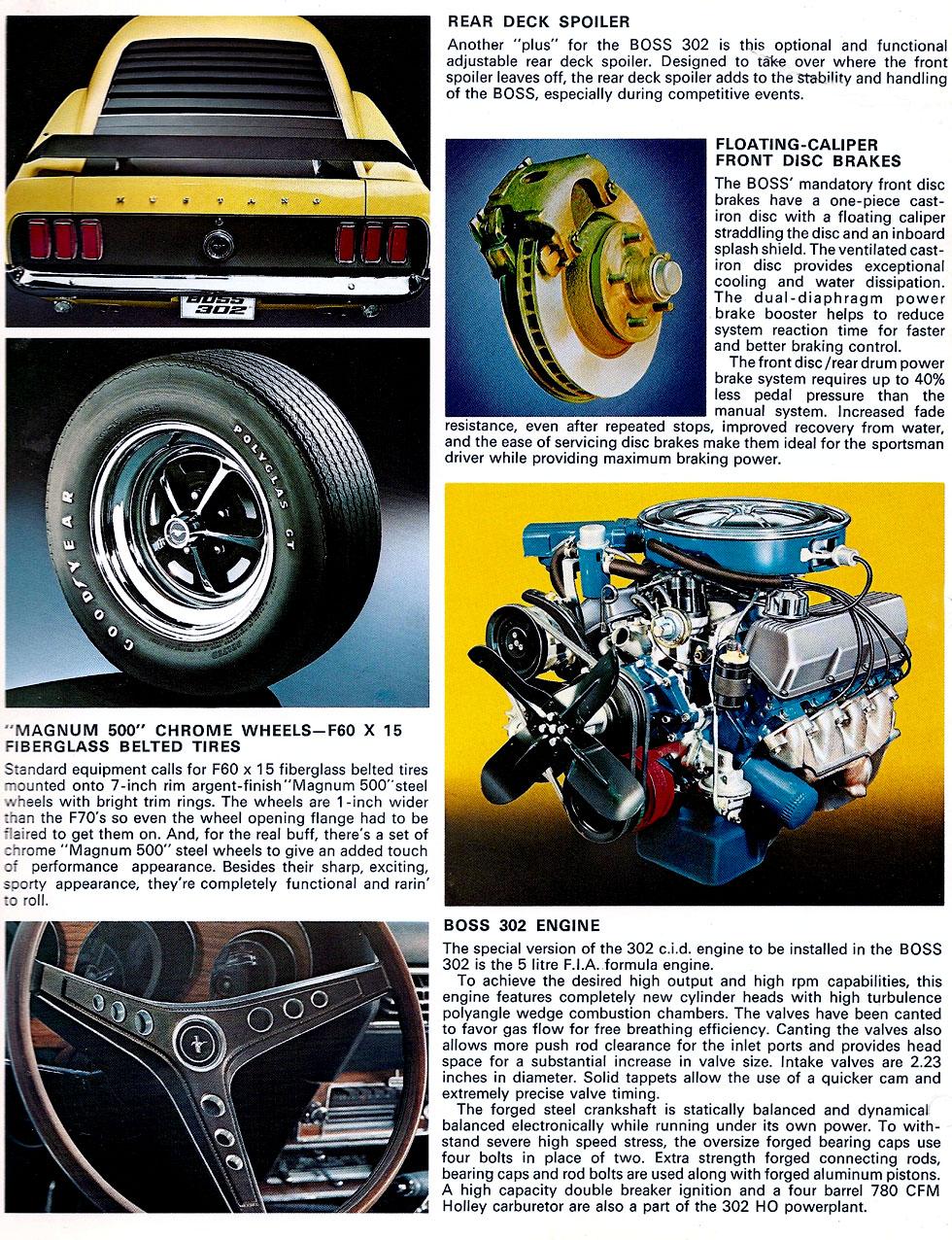 1969 Mustang Boss 302 specs