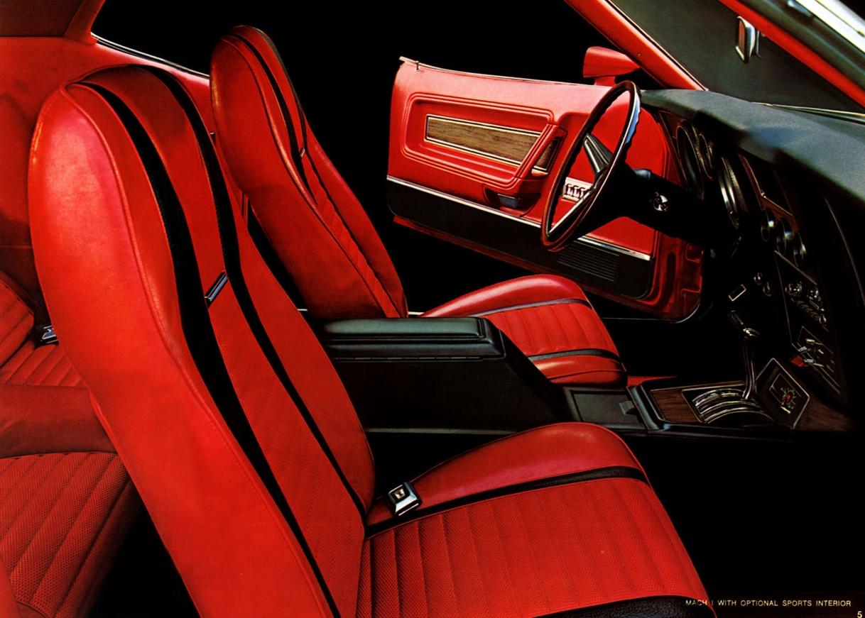 1971 Mustang Mach 1 interior