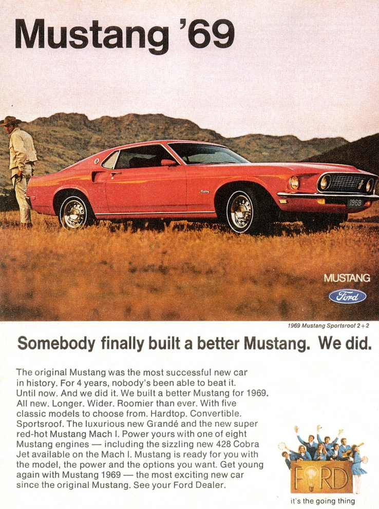 1969, Somebody finally built a better Mustang - Ford did