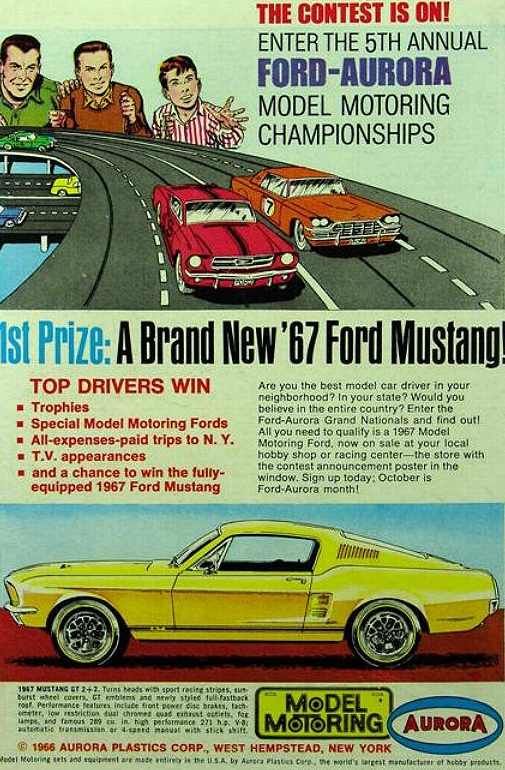 Win a 1967 Mustang - Aurora Model Motoring